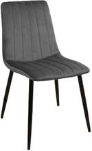 Enya sammet stol i Grå med svarta ben