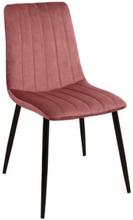 Enya sammet stol i Rosa med svarta ben