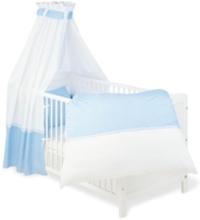 Textilset till Babysäng 4 delar, Vichy-Karo/Blå - Sängyt & Lisätarvikkeet