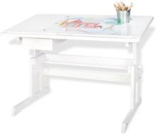 Barnskrivbord, Lena/vitlackerat trä - Furniture & Storage