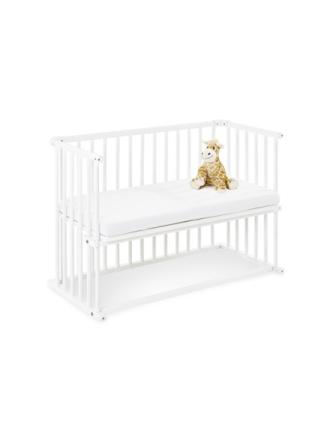 Bedside Crib med Madrass, Anja/Vit - Sängyt & Lisätarvikkeet