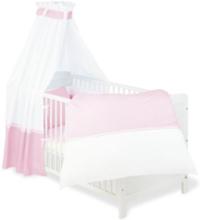 Textilset till Babysäng 4 delar, Vichy-Karo/Rosa - Beds & Acessories