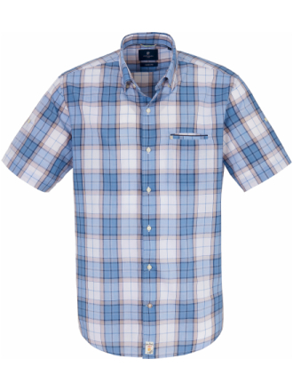 Skjorta Modern Fit kort ärm från Pierre Cardin blå
