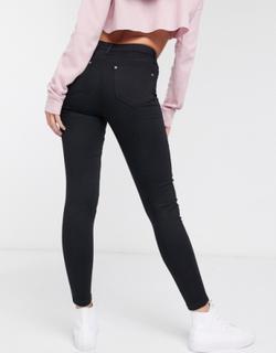 Lizzie sorte højtaljede skinny jeans fra Miss Selfridge