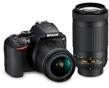 Nikon D3500 + 18-55mm AF-P VR + 70-300mm AF-P VR
