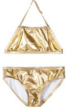 NAME IT Guldfärgad Bikini Kvinna Guld