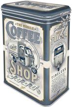 Kaffeburk coffee shop med knäpplock