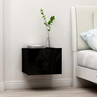 vidaXL Nattbord høyglans svart 40x30x30 cm sponplate