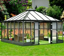 Orangeri och uterum 19,2m²   Kvadratiskt premium-växthus