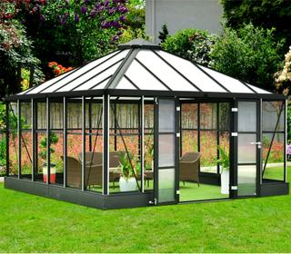 Orangeri och uterum 19,2m² | Kvadratiskt premium-växthus