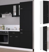 vidaXL Skap for kjøkkenskap svart 60x57x207 cm sponplate
