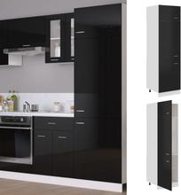 vidaXL Skap for kjøkkenskap høyglans svart 60x57x207 cm sponplate