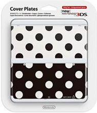 Nintendo Official Cover Plate for New 3DS - Black White Polkadots (3DS)