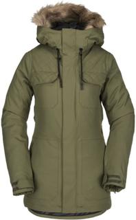 Volcom Women's Shadow Insulated Jacket Dame skijakker fôrede Grønn L
