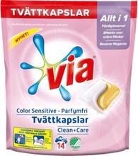 Tvättkapslar Color Sensitive Parfymfri