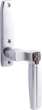 Låsbart handtag till fönster / altandörr ASSA Code Handle 7811 Mattkrom Höger 8x100 mm