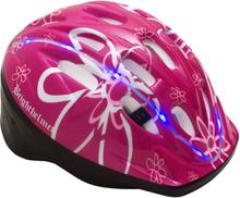 Cykelhjälm för barn Brighthelmet Kids Rosy Green med LED