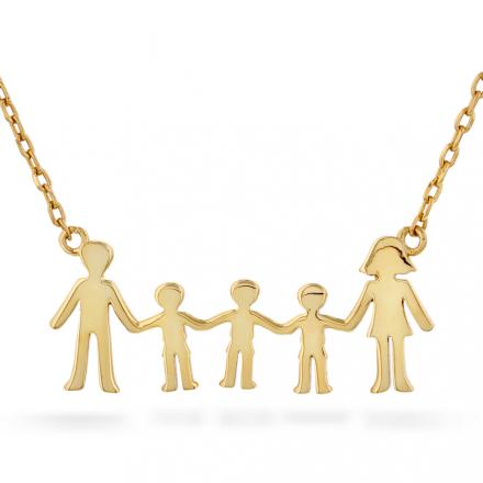 Familie - Smykke i sølv tre gutter