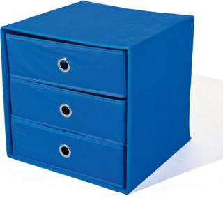 Wissy kommode stof kommode sammenklappelig blå.