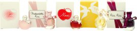 Nina Ricci Air Mail Femme Lahjasetti 5 x 4ml - Ricci Ricci EDP + Nina L'eau EDT + Mademoiselle EDP + Nina EDT + Láir De Temps EDT