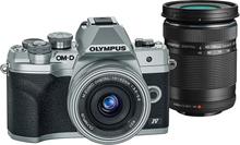 Olympus OM-D E-M10 Mark IV Silver + 14-42 Silver + 40-150 Svart, Olympus