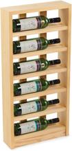Vinställ 6 Flaskor Light oak