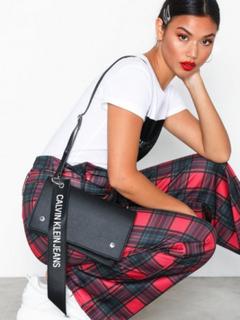 Calvin Klein Logo Banner Shoulder Flap Bag