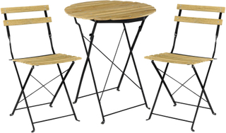 Bistro sæt rundtbord med 2 stole - have møbler