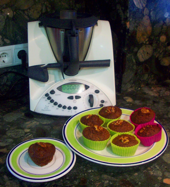 magdalenas de chocolate thermomix
