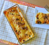 eggless bread butter pudding
