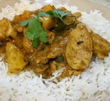 slow cooker fruity chicken curry