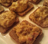 rye bread squares appetizers