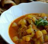 spicy potato curry for chapathi