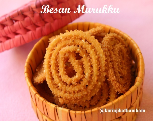 rice flour and besan murukku