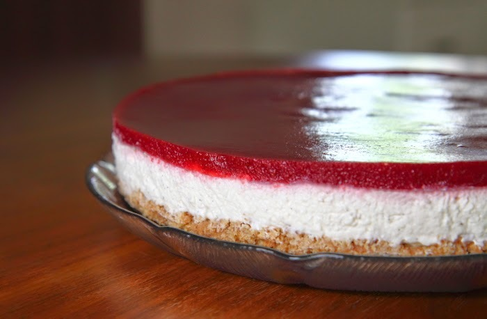 cheesecake topping opskrift