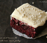 red velvet brownies from brownie mix