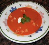 italian oven roasted red pepper soup