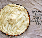 lemon meringue pie with biscuit base