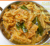 nethili dry fish curry with brinjal