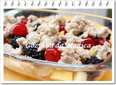 crumble light de maçã