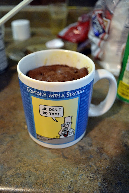 microwave cookie in a mug without egg