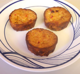noodle kugel in muffin tin