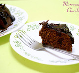 how to make eggless chocolate cake in microwave