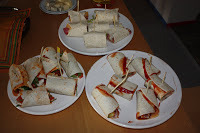 wraps met salami en roomkaas