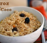 arroz color caramelo