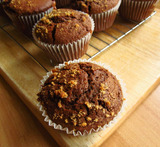 toffee fudge muffins