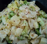 pasta salad with hung curd