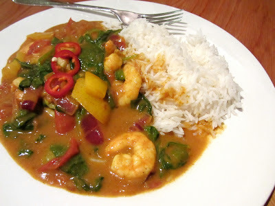hairy dieters coconut prawn curry