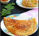quick dosa with leftover rice
