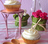 frosting cupcakes sin mantequilla